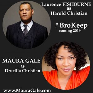 Maura Gale plays wife of Laurence Fishburne #BroKeep