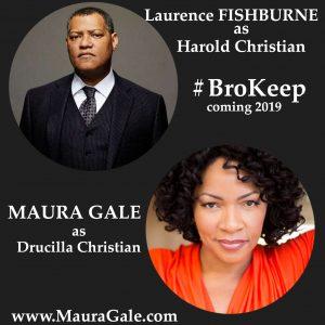Maura Gale plays wife of Laurence Fishburne #BroKeep